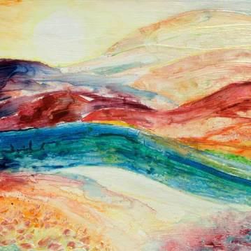 Terre en méditation   Sophie Ruel - artiste