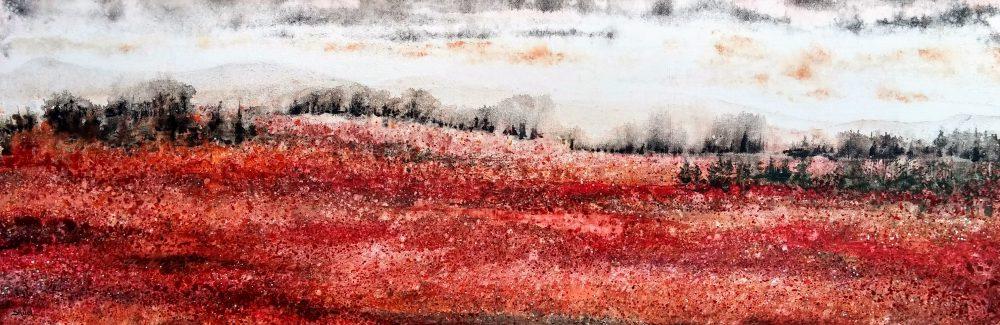 Il neige sur la bleuetière   Sophie Ruel - artiste