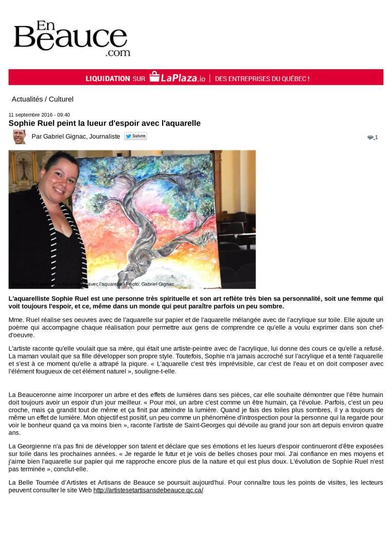 Sophie Ruel peint la lueur d'espoir avec l'aquarelle