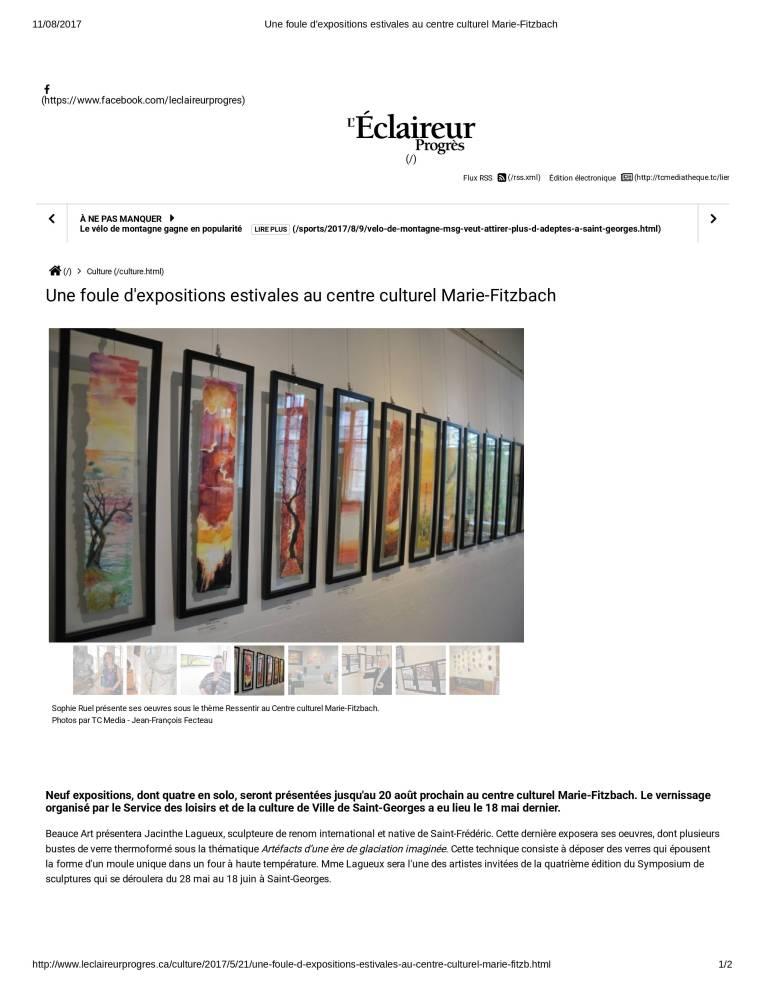 2017-05-21 Une foule d'expositions estivales au centre culturel Marie-Fitzbach-1